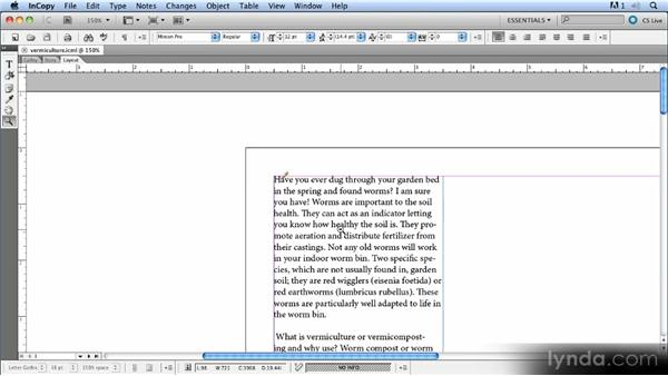 Navigating a document: Up and Running with InCopy CS5