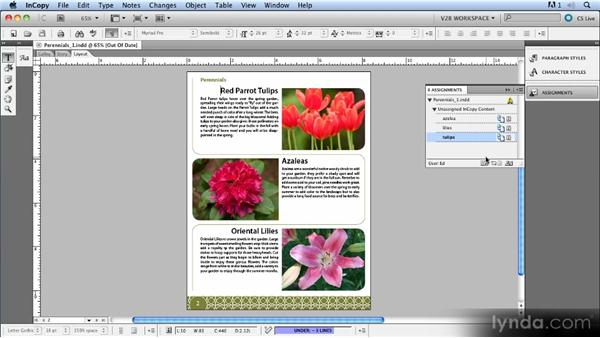 Dealing with layout updates: Up and Running with InCopy CS5