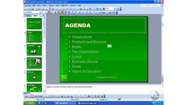 navigating: PowerPoint 2003 Essential Training