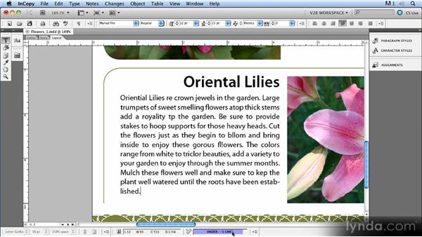 Writing to fit: Up and Running with InCopy CS5