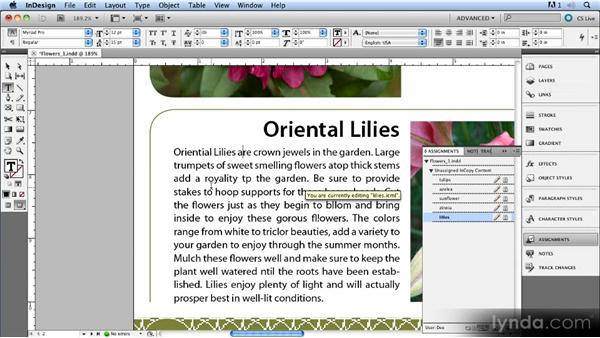 Using Track Changes: Up and Running with InCopy CS5