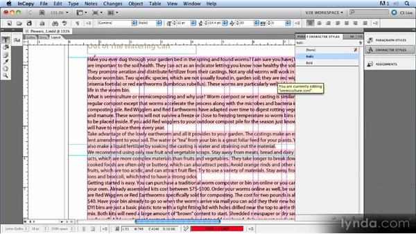 Using Find/Change: Up and Running with InCopy CS5