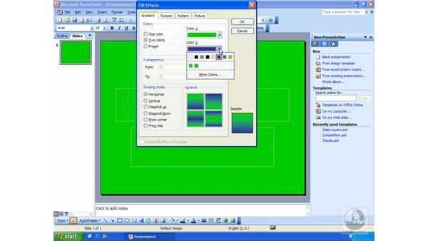 background color: PowerPoint 2003 Essential Training