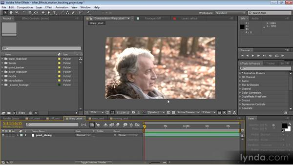 Overview of motion tracking: Motion Tracking and Stabilization with After Effects CS5.5