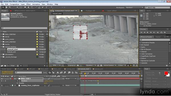 Manual motion tracking: Motion Tracking and Stabilization with After Effects CS5.5