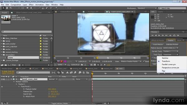 Overview of the motion tracking interface: Motion Tracking and Stabilization with After Effects CS5.5