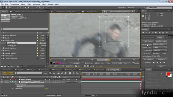 Tracking position only: Motion Tracking and Stabilization with After Effects CS5.5