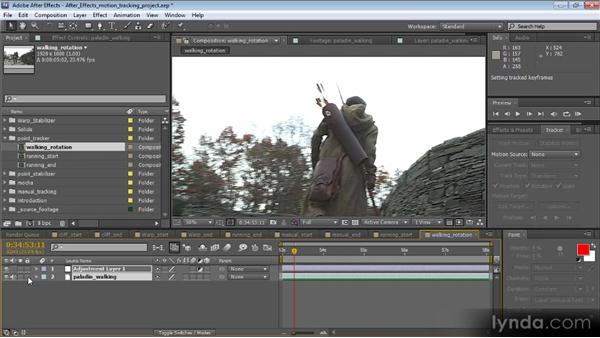 Tracking position, rotation, and scale: Motion Tracking and Stabilization with After Effects CS5.5