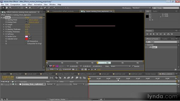 Using point tracking data for effects: Motion Tracking and Stabilization with After Effects CS5.5