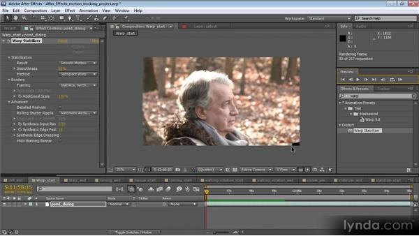 Warp Stabilizer effect controls: Motion Tracking and Stabilization with After Effects CS5.5