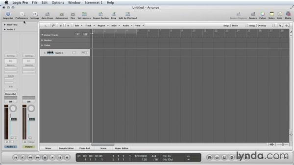 Initial setup and views: Mixing a Short Film with Logic Pro
