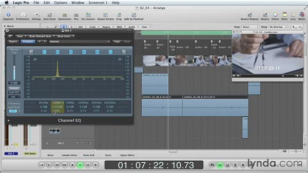Fixing hum problems with processing: Mixing a Short Film with Logic Pro