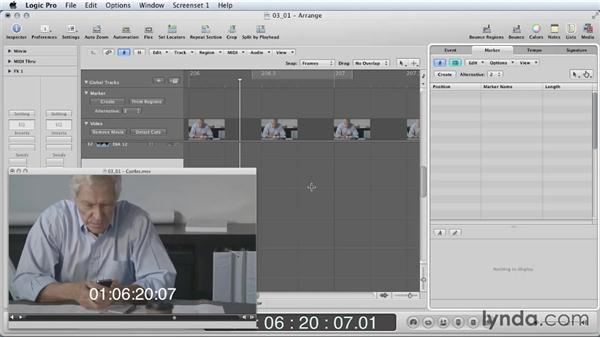 Synchronizing sound effects: Mixing a Short Film with Logic Pro