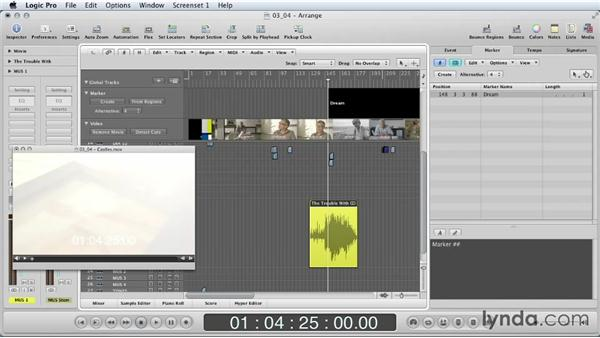 Working with music tracks: Mixing a Short Film with Logic Pro
