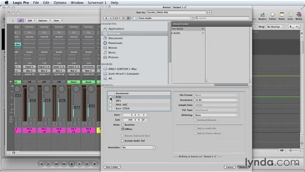Printing final stems: Mixing a Short Film with Logic Pro