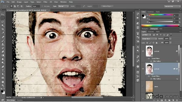Modifying Filter Gallery settings: Photoshop CS6 One-on-One: Mastery
