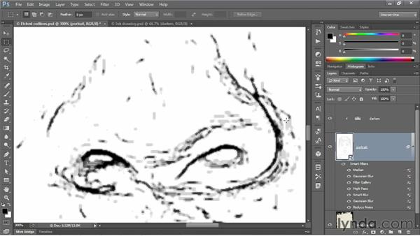 """Turning those outlines into """"digital ink"""": Photoshop CS6 One-on-One: Mastery"""