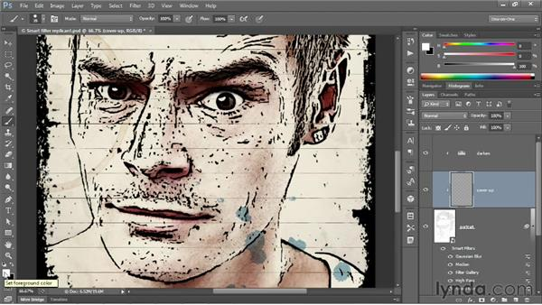 Customizing a filter effect for a new image: Photoshop CS6 One-on-One: Mastery