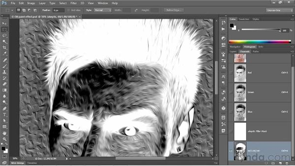 Customizing an effect with a filter mask: Photoshop CS6 One-on-One: Mastery