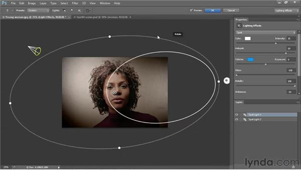 Shining light onto a photograph: Photoshop CS6 One-on-One: Mastery