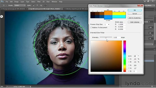 Creating a custom, colorful vignette: Photoshop CS6 One-on-One: Mastery