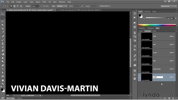 Turning text into a soft texture map: Photoshop CS6 One-on-One: Mastery