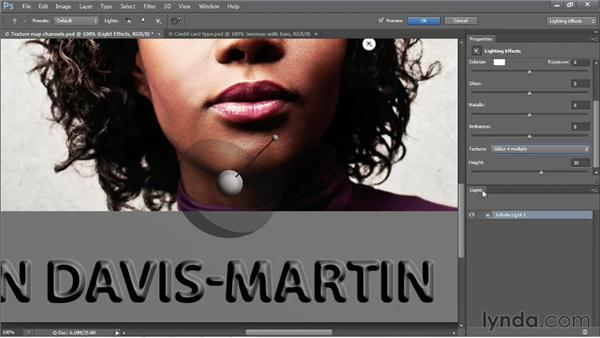 Creating raised credit-card-style letters: Photoshop CS6 One-on-One: Mastery
