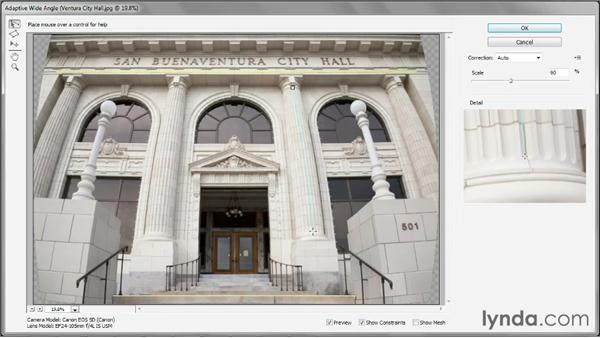 Introducing the Adaptive Wide Angle filter: Photoshop CS6 One-on-One: Mastery