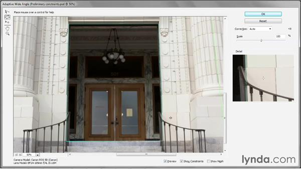 Drawing polygonal constraints: Photoshop CS6 One-on-One: Mastery