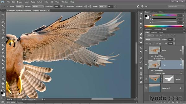Changing the mode and adding rotation: Photoshop CS6 One-on-One: Mastery