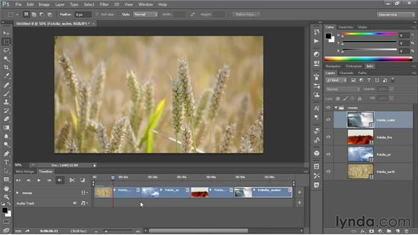 Loading video clips into Photoshop: Photoshop CS6 One-on-One: Mastery