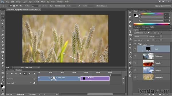 Creating gradually fading transitions: Photoshop CS6 One-on-One: Mastery