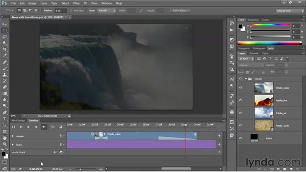 Activating a few painless keyboard shortcuts: Photoshop CS6 One-on-One: Mastery