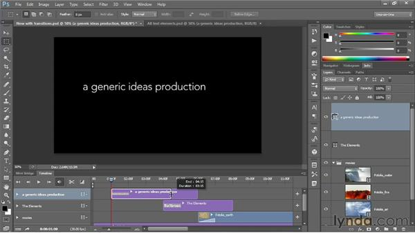 Adding text to your video: Photoshop CS6 One-on-One: Mastery