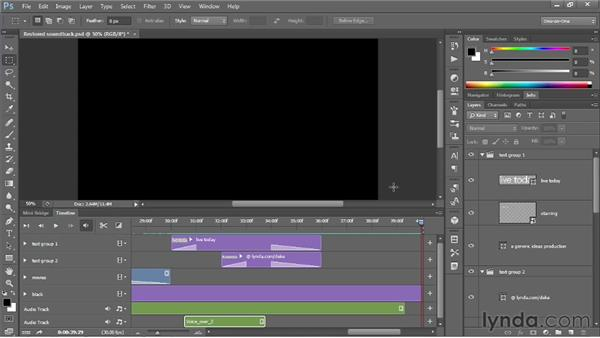 Editing an existing video comp: Photoshop CS6 One-on-One: Mastery