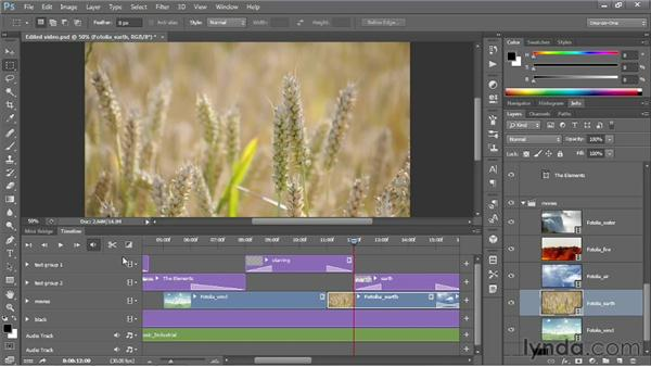 Adding a video clip to the start of a track: Photoshop CS6 One-on-One: Mastery
