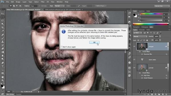 Softening an HDR portrait shot: Photoshop CS6 One-on-One: Mastery