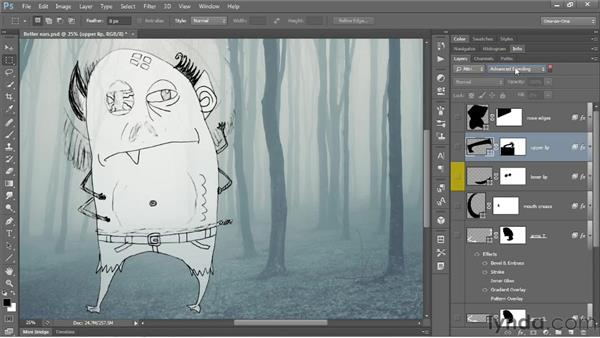 Managing the multilayer experience: Photoshop CS6 One-on-One: Mastery