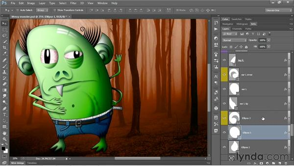 Renaming a sequence of layers: Photoshop CS6 One-on-One: Mastery