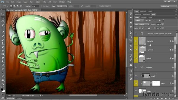Grouping layers by name: Photoshop CS6 One-on-One: Mastery