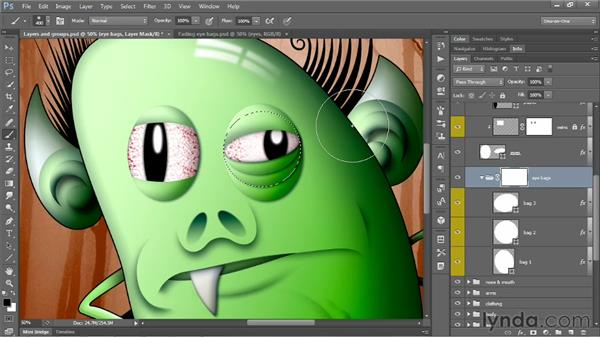 Masking groups and effects in one operation: Photoshop CS6 One-on-One: Mastery