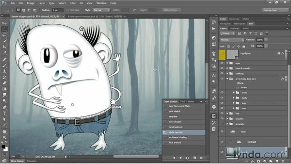 Introducing layer comps: Photoshop CS6 One-on-One: Mastery