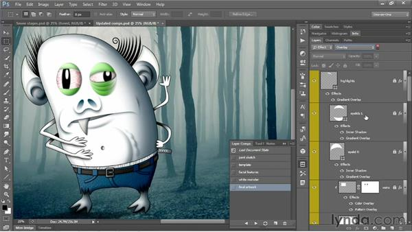 Creating a dynamic layer comp: Photoshop CS6 One-on-One: Mastery