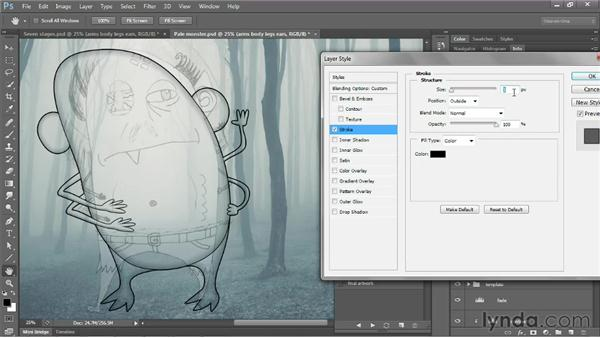 Applying a mode or effect to an entire group: Photoshop CS6 One-on-One: Mastery
