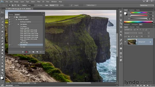 Recording a simple but practical action: Photoshop CS6 One-on-One: Mastery