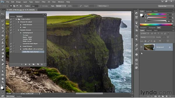 Creating a dynamically adjustable action: Photoshop CS6 One-on-One: Mastery