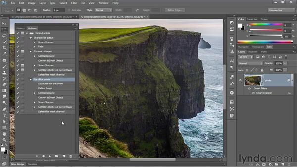 Adding steps to an existing action: Photoshop CS6 One-on-One: Mastery