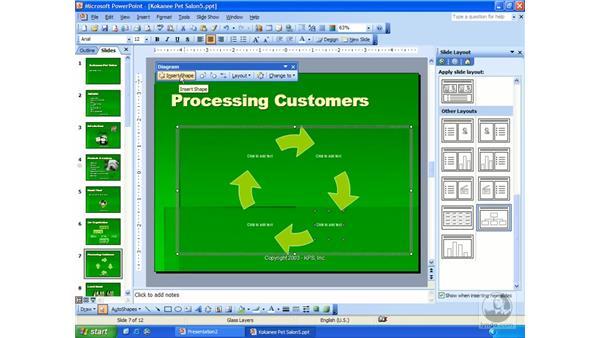 diagrams: PowerPoint 2003 Essential Training