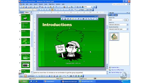 ClipArt: PowerPoint 2003 Essential Training