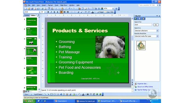 AutoShapes: PowerPoint 2003 Essential Training